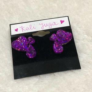 Handmade Holographic UV Resin Gem Earrings
